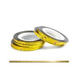 Laser samolepící zdobící páska na nehty - ZLATÁ GLITTER 1ks - zvìtšit obrázek