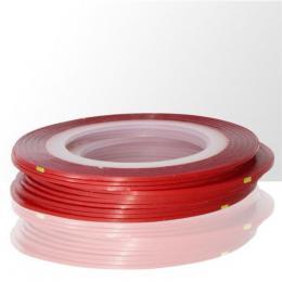 Laser samolepící zdobící páska na nehty - ÈERVENÁ 1ks
