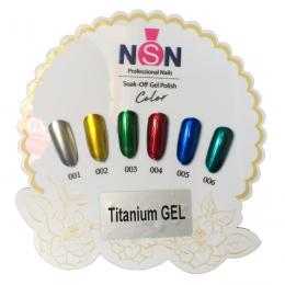gel lak set 6ks - Titanium Gel