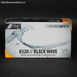 Rukavice nitrilové èerné NITRAS 8320 / Black Wave - M - zvìtšit obrázek