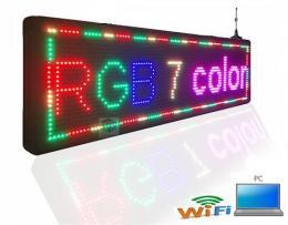 WIFI LED REKLAMA, SVÌTELNÌ TABULE BAREVNÁ - PANEL 100x20 CM - zvìtšit obrázek